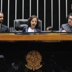 A foto mostra a deputada mirim Eduarda Franco de Carvalho, do Colégio Marista de Goiânia, presidindo os trabalhos da Sessão Plenária do Câmara Mirim no dia 21 de outubro de 2016.