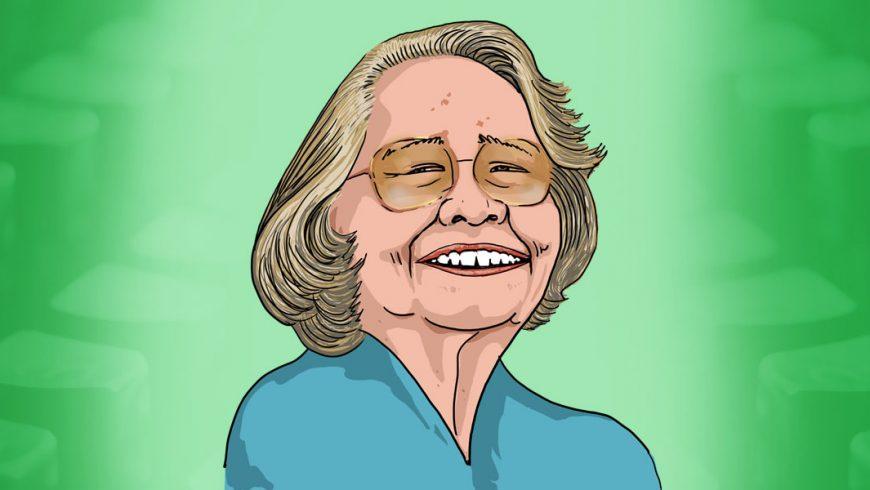 Desenho de Rachel de Queiroz sorrindo