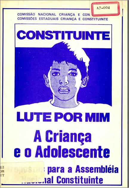 """Capa da Emenda Popular """"Criança, prioridade nacional"""""""