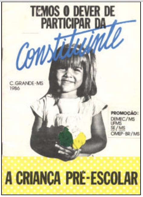 Cartaz da Miniconstituinte em Campo Grande / MS