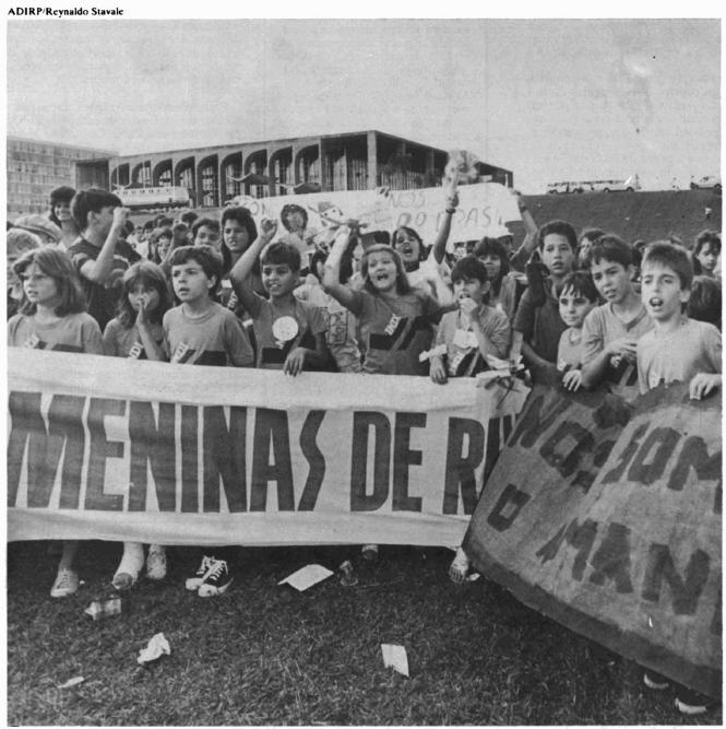 Movimento Nacional de meninos e meninas de rua. Foto: Reynaldo Stavale