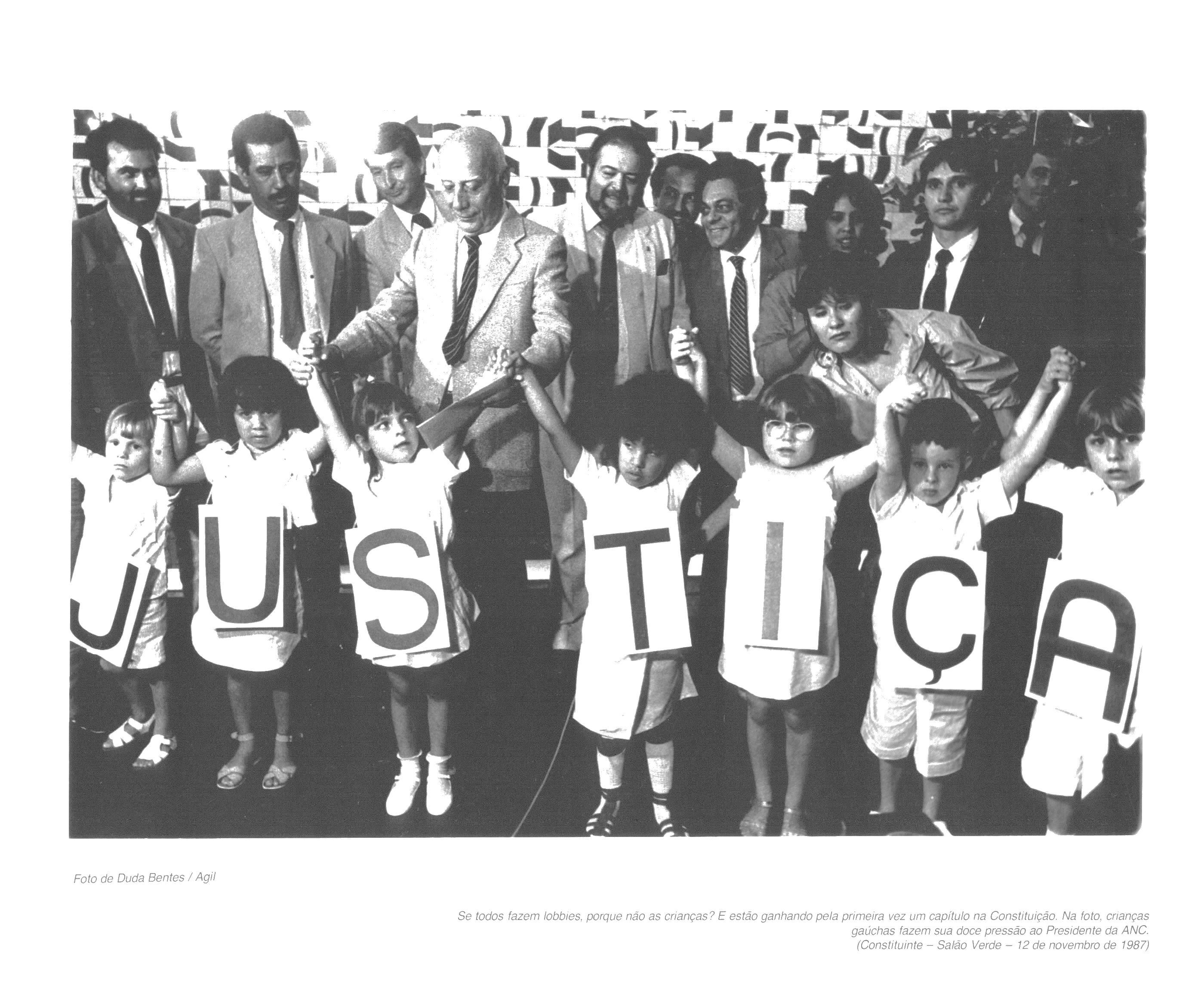 Crianças no Congresso Nacional. Foto: Duda Bentes