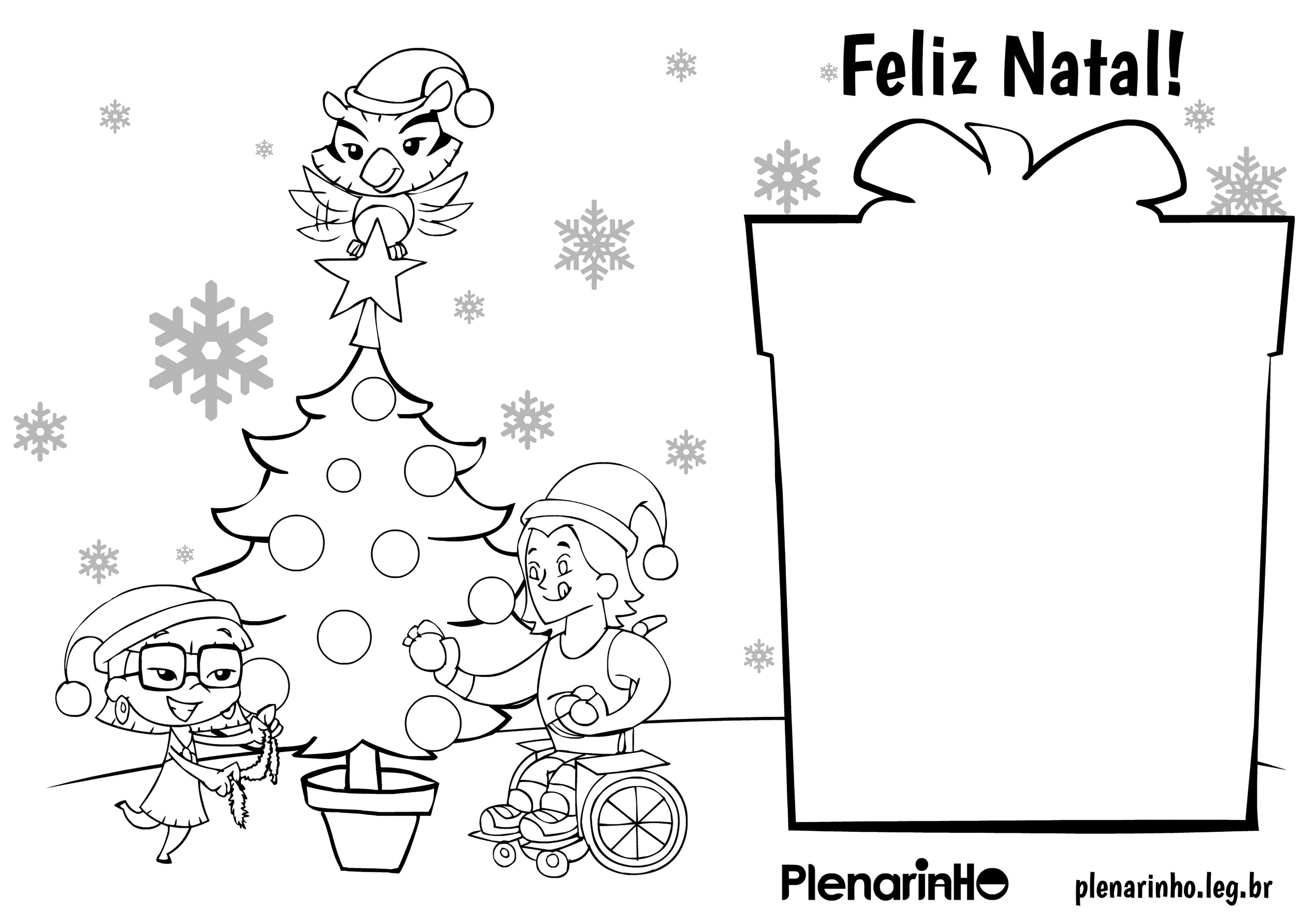 Distribua Cartoes De Natal Com O Plenarinho Plenarinho Camara