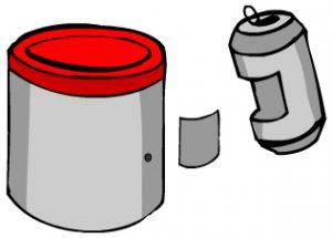 lata-e-pedaco-de-aluminio