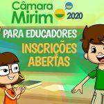 Câmara Mirim 2020 – inscrições abertas para educadores!