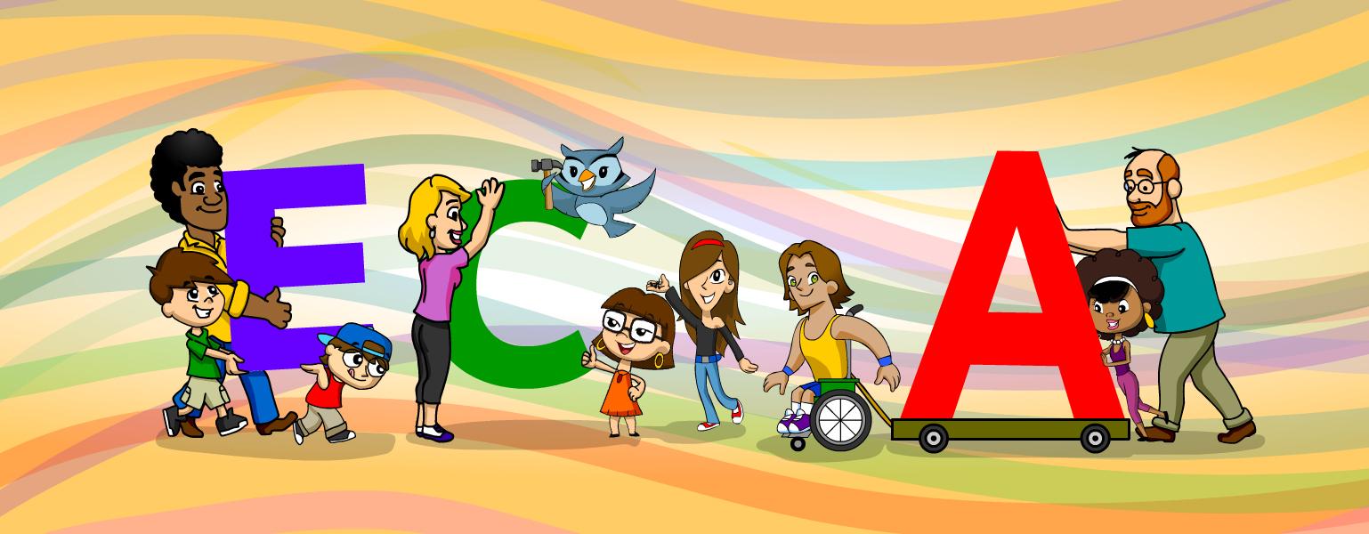 Ilustração de fundo colorido. No cee
